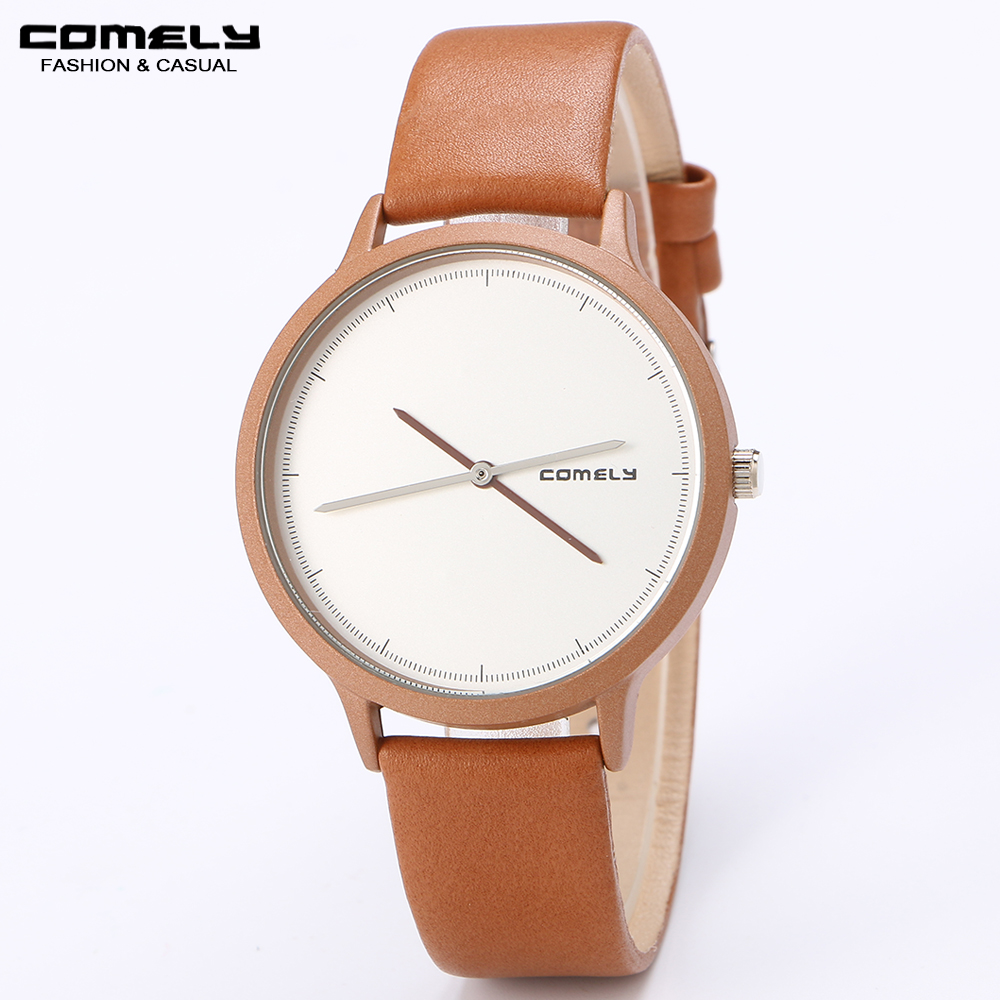 Fashion Leather Strap Watch Casual Classic Luxury Unique Design Waterproof Analog Quartz Wristwatches 247 classic leather