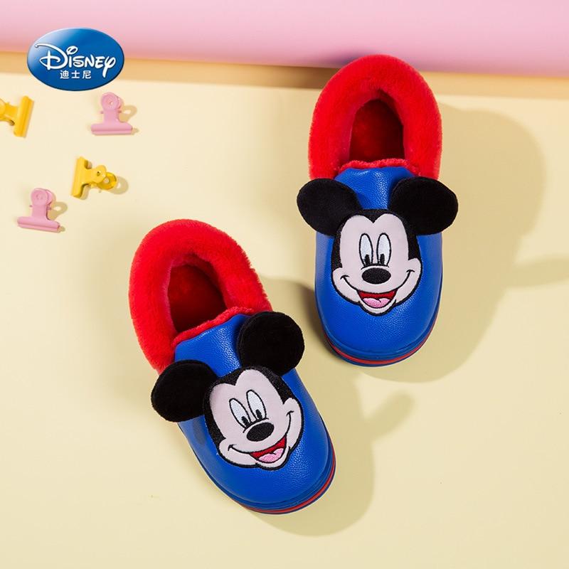 2019 New Cartoon Mickey Minnie Anti-skid Children's Slippers Cute Autumn And Winter Warm Children's Cotton Shoes Home