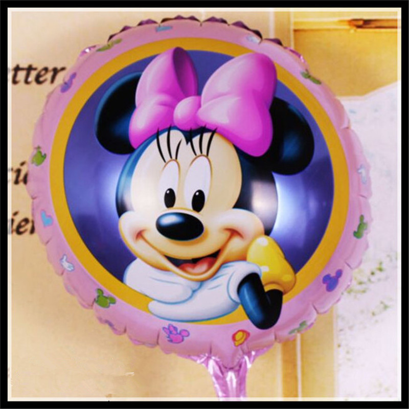 50pcs/lot Girl Mouse Foil Yellow  Balloons Birthday Balloons Gift Party Supply 4