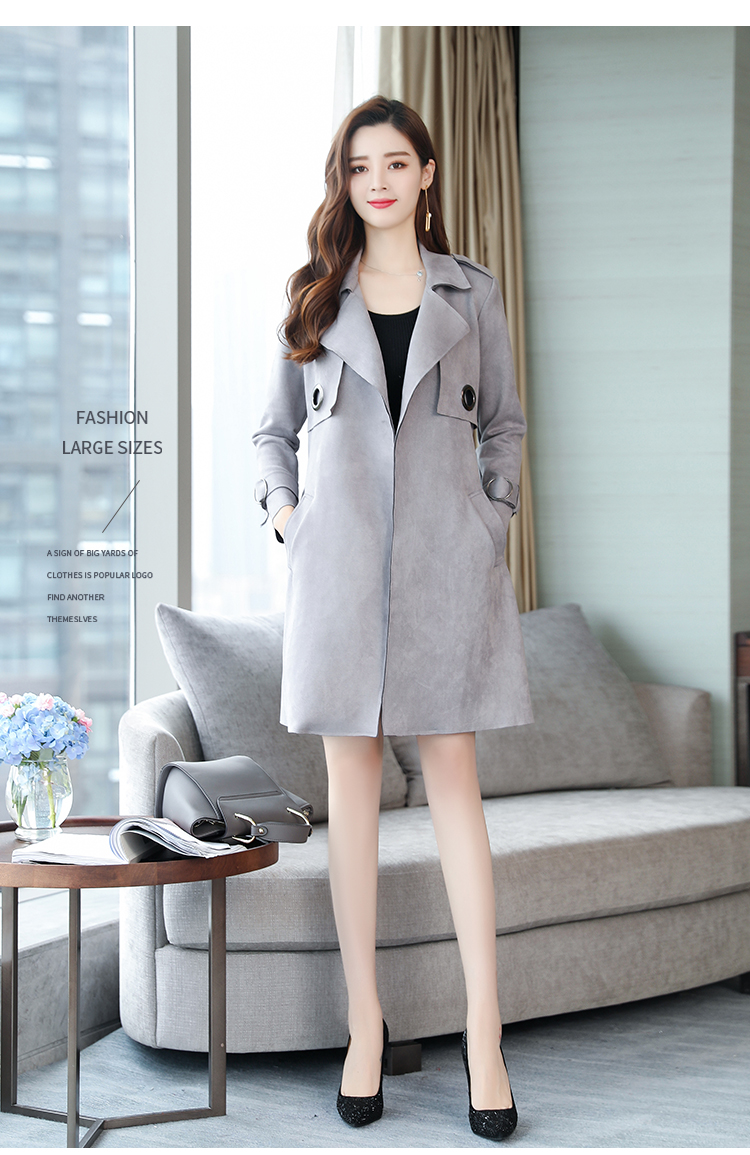 Women's New Arrival Long Free Shipping 2019 Autumn And Winter New Korean Lady Temperament Elegant Chic Style Female   Trench   Coat