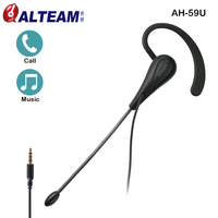 ALTEAM Original Wired 3 5mm Single Ear Side Mono Ear Hook Earhook Earphones Headphones Headset With