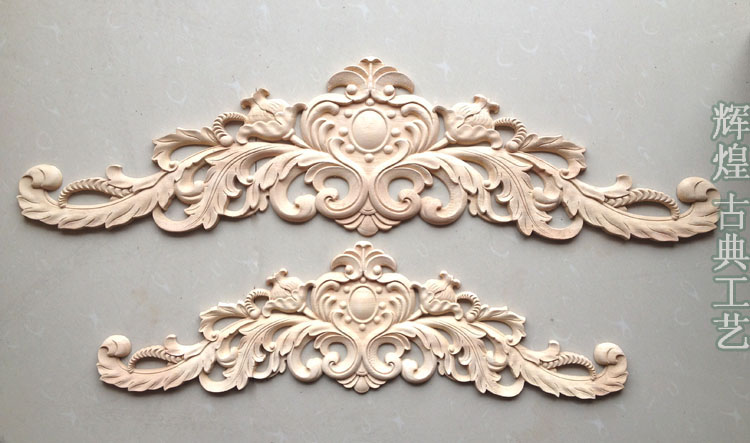 Dongyang wood carving fashion corners applique gate flower wood