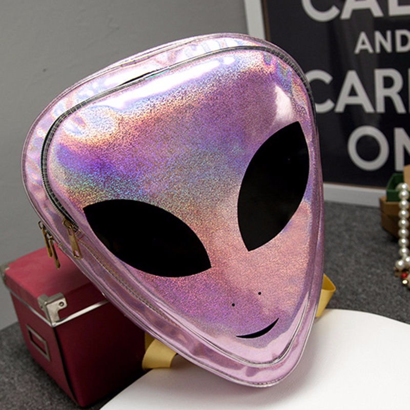Brand 5 Types Laser 3d Aliens Backpack 5 Colors Reflection Harajuku Style School Bag For Teenagers Transparent Backpack