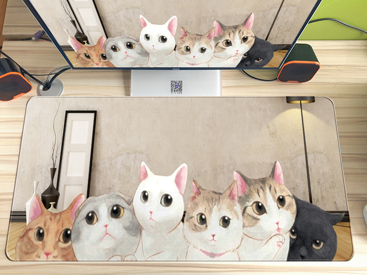 FULCLOUD 40*90 cm cute cartoon rubber mouse pad Large Gaming Mouse Pad Mousepad Locking Edge For Laptop Mouse pad