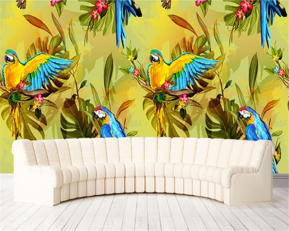 Beibehang 3D Wallpaper HD Southeast Asian Style Retro Hand Painted ...