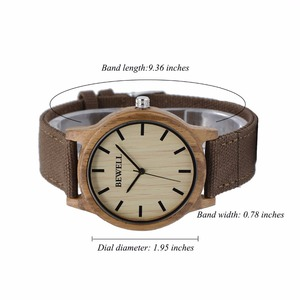 Image 3 - BEWELL Fashion & Casual Mens Wood Watches with Fabric Band Water Resistant Wrist Watch with Box 134A
