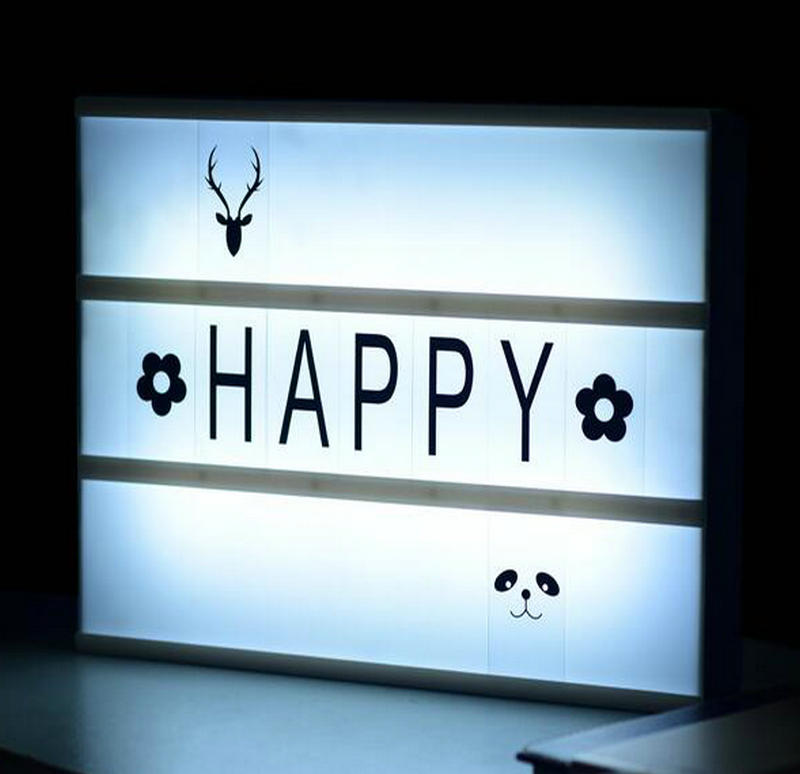 Dhl Free Shipping A4 Diy Rechargable Battery Ed Led Cinema Light Box 180 Pcs Letters Included For Home Decoration