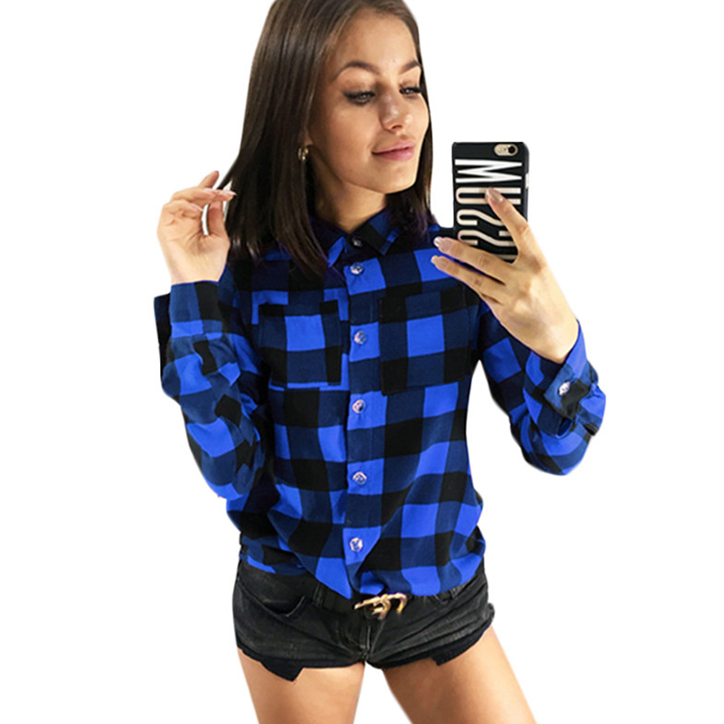 Sexy Plaid Blouse Women Shirt Long Sleeve Turn Down Collar Blouse Female Shirts Summer Fashion Casual Office Tunic Tops 2019 in Blouses amp Shirts from Women 39 s Clothing