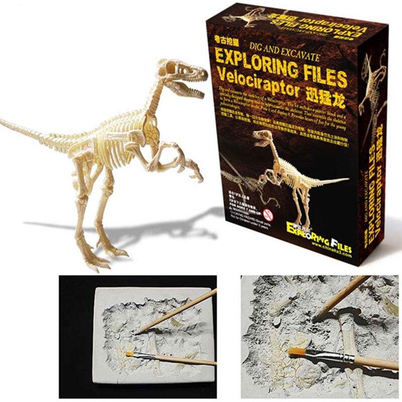 Обнаружить динозавра игрушка Кости Модель раскопок археологии образовательные Рождество археологические игры модель игрушечного динозав...