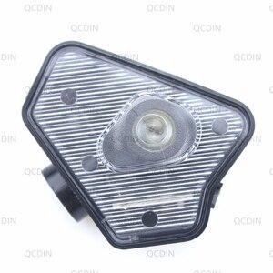 Image 3 - QCDIN per MB LED Dellautomobile Laterale del Rimorchio Specchio Puddle Logo Luce Specchietto retrovisore Lampada Del Proiettore per MB Multi serie modello