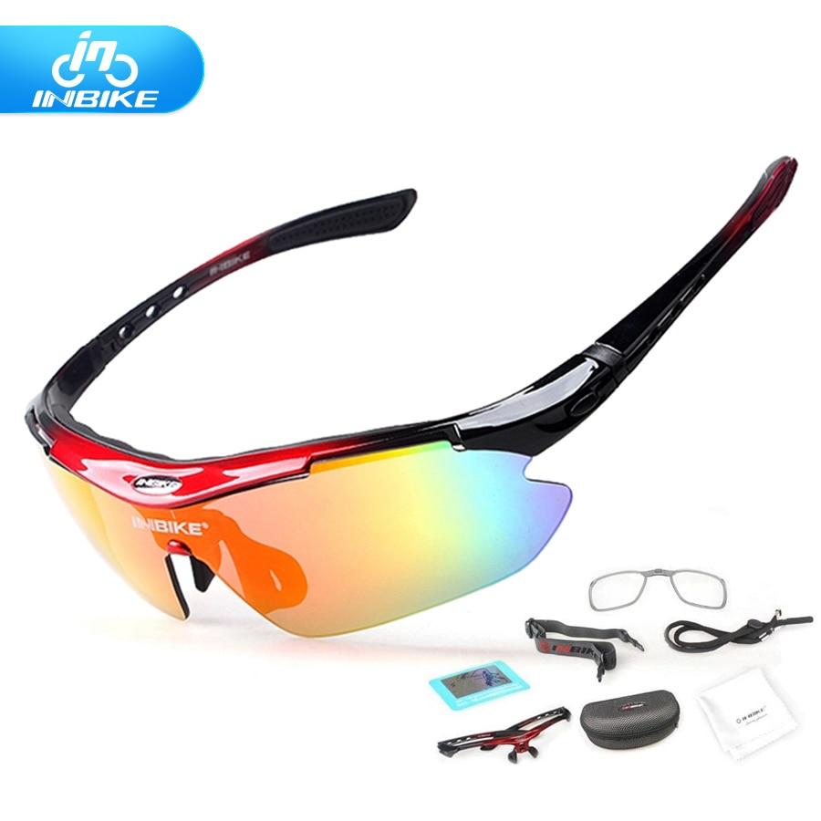 35c7e4dbed Polarizado ciclismo gafas 5 lente transparente vidrios de la bici gafas UV  A Prueba de deporte