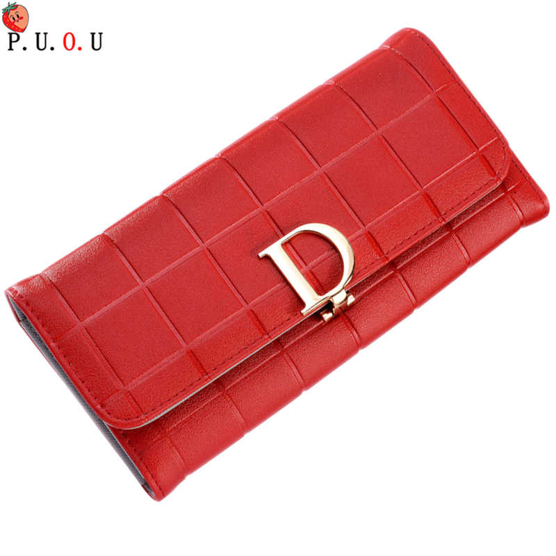 2019 New Brand 5 Color Women Wallets Lady Purse Female 3 Fold Long Wallet Elegant Fashion Female Clutch With Card Holder Large M