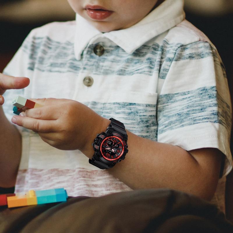 Relógios para Crianças Relógio de Quartzo Esporte para Crianças Relógio de Pulso Infantil à Prova Meninos Digital Eletrônico Meninas Criança Relógio Dwaterproof Água Led