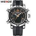Hot Sale Silicone Strap Sport Watches Men Luxury Analog LED Analog Digital Men Quartz Wristwatches Alarm Stopwatch Clock WEIDE