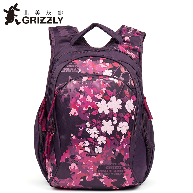 где купить GRIZZLY New Women Backpack for Teenager Girls Fashion Mochila Casual Waterproof Printing School Bags Large Capacity Travel Bags по лучшей цене