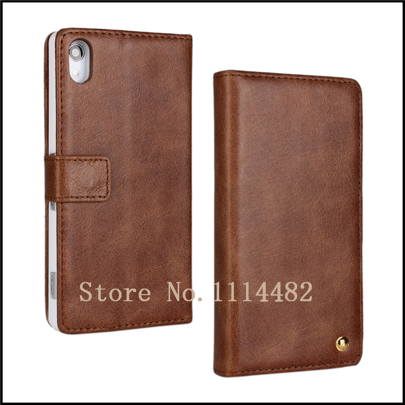 Top Genuine Leather <font><b>Case</b></font> For <font><b>Sony</b></font> <font><b>Xperia</b></font> <font><b>Z2</b></font> <font><b>Phone</b></font> with Window Photo + free shipping