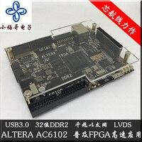 USB3.0 DDR2 Gigabit Ethernet Placa de Desenvolvimento FPGA LVDS EP4CE30 AC6102