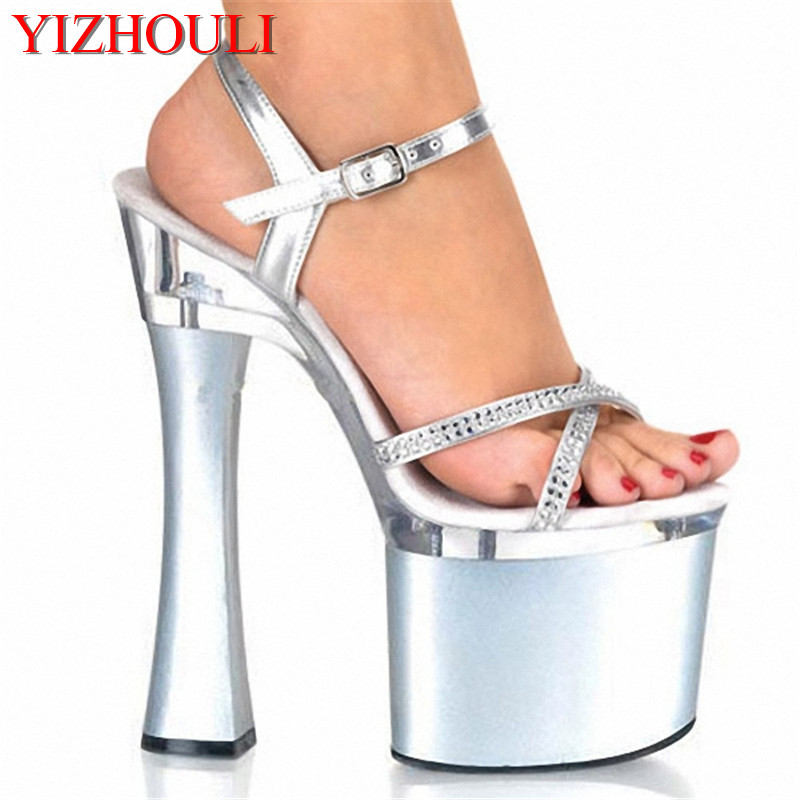 New Arrived 18CM Pumps High Heels Platform High Heeled Thick Sole Sexy Shoes For Women 7 inch Model Pumps Shoes new casual high heeled shoes sexy ruslana thick heels platform pumps women pump thick heel platform shoes black white shoes size