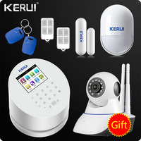 2017 KERUI W2 WiFi GSM PSTN RFID Home Alarm Security System TFT Color LCD Display ISO