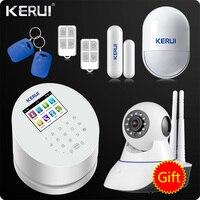 2018 KERUI W2 Wi Fi GSM PSTN RFID Главная охранной сигнализации Системы цветной TFT ЖК дисплей Дисплей ISO Android App Ремо