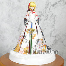 Alter Fate Stay Night Saber Kimono Ver Model Arturia Anime Action Figure Arutoria Pendoragon Wedding Dress Collectible Doll(China)