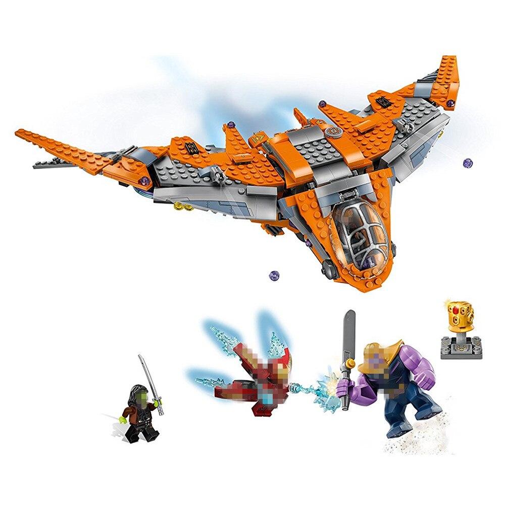 Super Heroes Thanos Battaglia Finale Avengers Infinity War Building Block Mattoni Set di Un Film Classico Giocattoli Marvel Compatibile Legoe