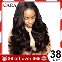 Glueless Full Lace Wigs Pre Plucked Full Lace Human Hair Wigs With Baby Hair For Women 250% Black Brazilian Body Wave Remy CARA