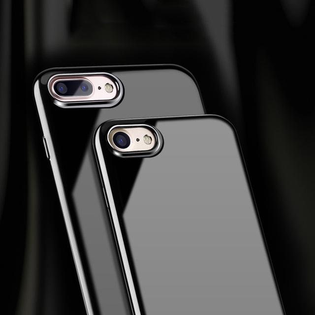 Coque en silicone souple brillante pour iphone 6 6s 6s Plus 7