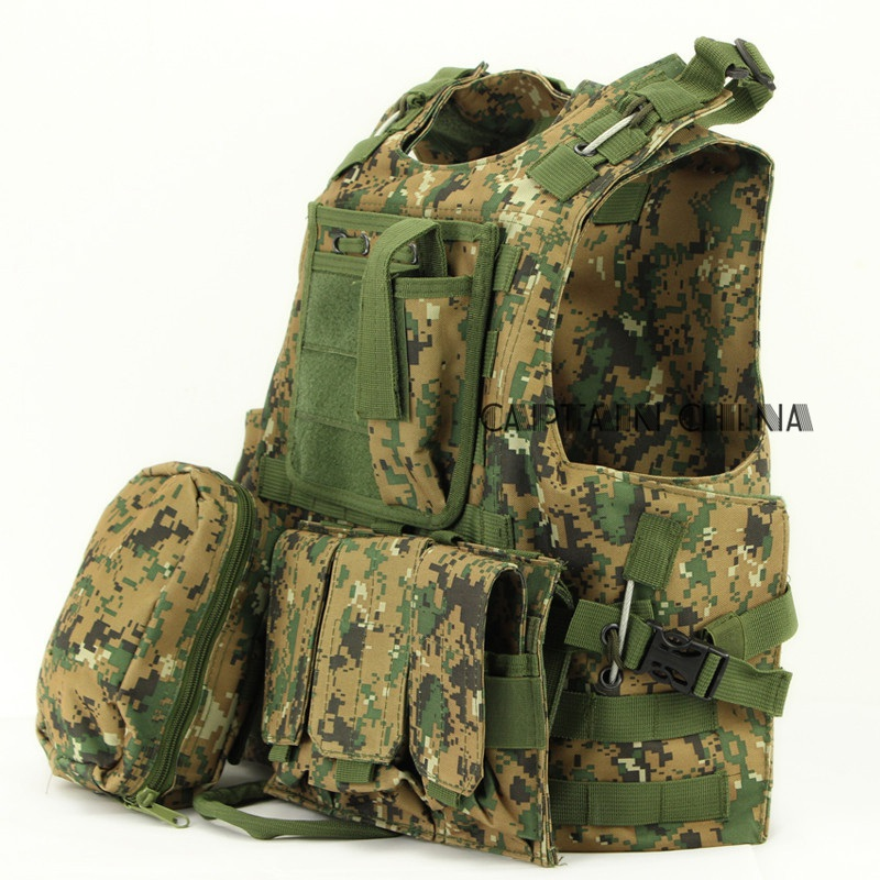 Hot Army Outdoor Combat Tactical Vest New Hunting Airsoft MOLLE Nylon Combat Paintball Tactical Vest