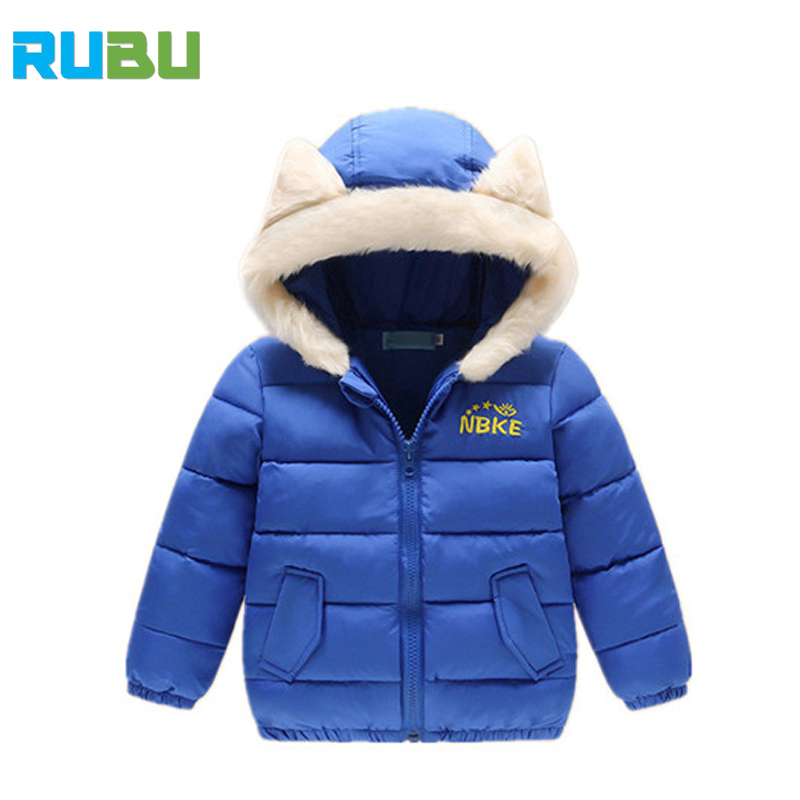 Boys Winter Jacket 2017 New Hooded Kids Girls Winter Coat Long Sleeve Wind Proof  Children Clothes Outwear Warm 1-6 Yrs JSB421 children winter coats jacket baby boys warm outerwear thickening outdoors kids snow proof coat parkas cotton padded clothes