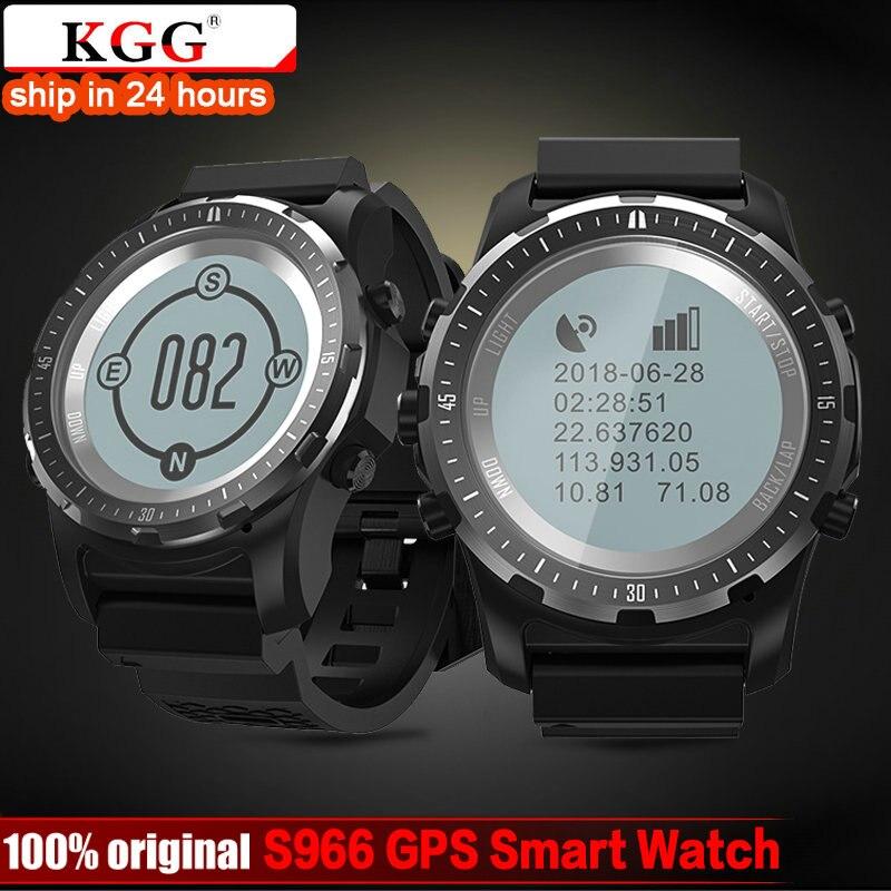 KGG GPS Compass Speedometer S966 Sport Watch Bluetooth Heart Rate monitor Multi sport fitness tracker Smart Watch