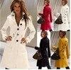 New Arrival 2014 Fashion Solid Slim Sibfle Breasted Female Coats Autumn Winter Hot Women Coat 4