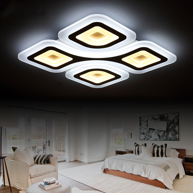 Remote Control Wireless Dimmable Modern Ceiling Chandelier Lights High Quality Cool And Warm LED Lamp For Living Room