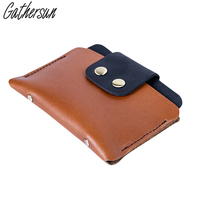 Handmade Mini Vintage Genuine Leather Credit Card Holder High Quality Leather Cowhide Card Wallet Simple Card
