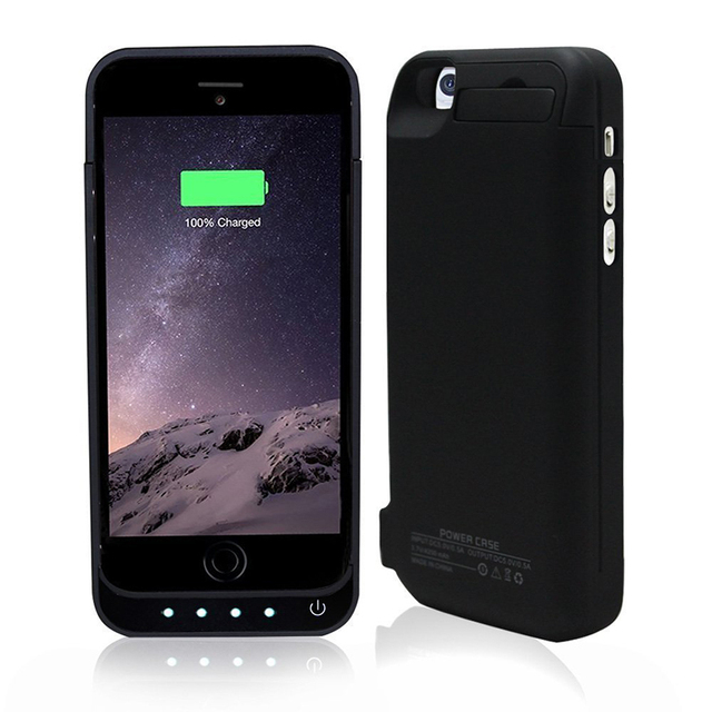 3200mah External Power bank Power pack Charger Backup Battery Case for iphone 6 4.7 inch Backup battery with stand free shipping