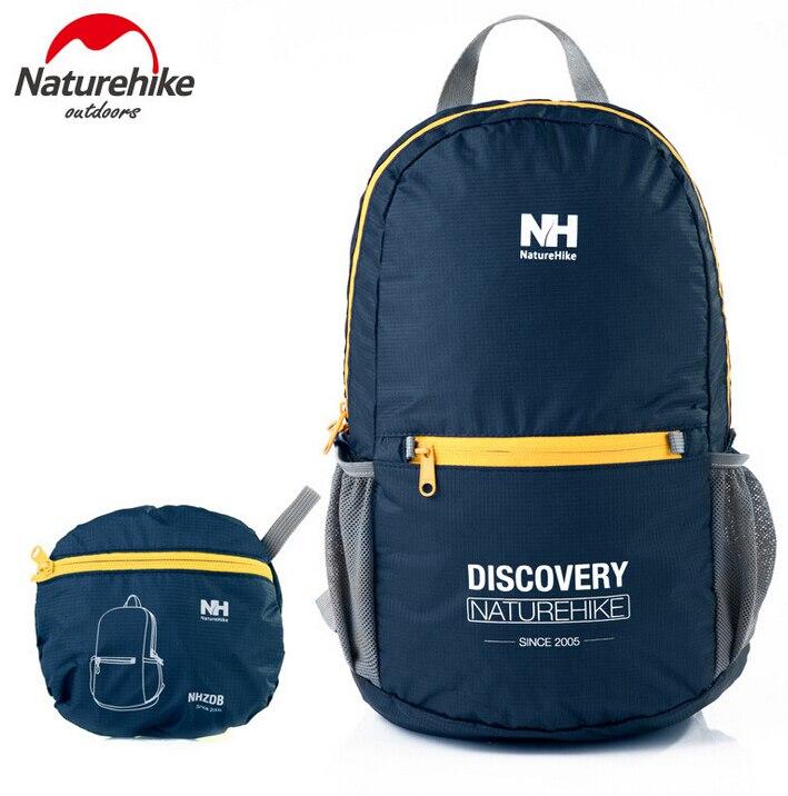 Naturehike Outdoor Sports Folding Foldable 15L Hiking Backpacks Climbing Backpack Ultralight Travel Bags 21w outdoor travel folding foldable
