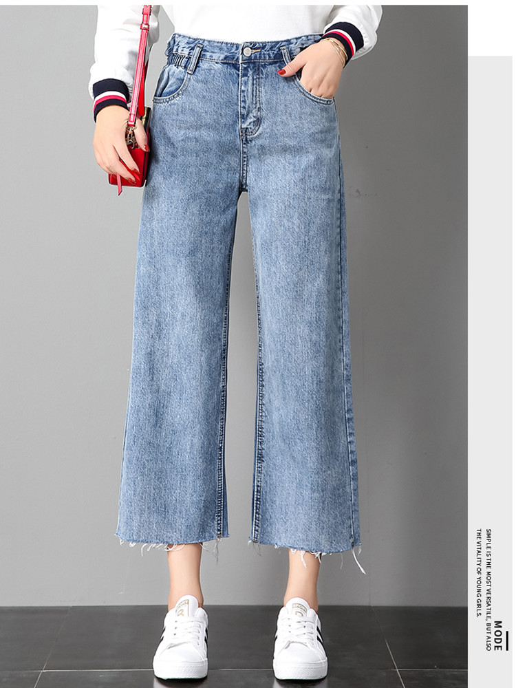 JUJULAND 2019 Clothes Ladies High Elastic Waist Female Jeans For Women Trousers Pants Denim Ripped Jean Woman Plus Size 3026