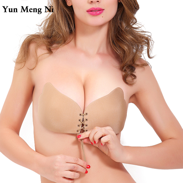 Seamless Adhesive Bra Invisible Silicone Backless Bralette Strapless Push Up Bra Sexy Lingerie Fly Bra Women Underwear