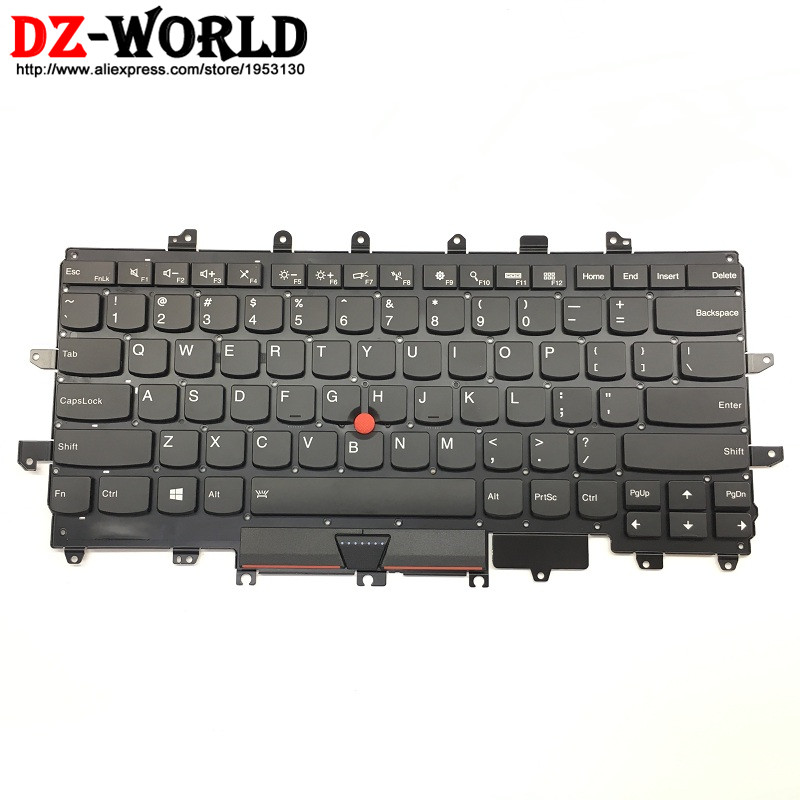New Original for Lenovo Thinkpad X1 Carbon 4th Gen 4 MT: 20FB 20FC US English Keyboard Backlit Teclado 00PA698 SN20K74746 genuine new for lenovo thinkpad x1 helix 2nd 20cg 20ch ultrabook pro keyboard us layout backlit palmrest cover big enter