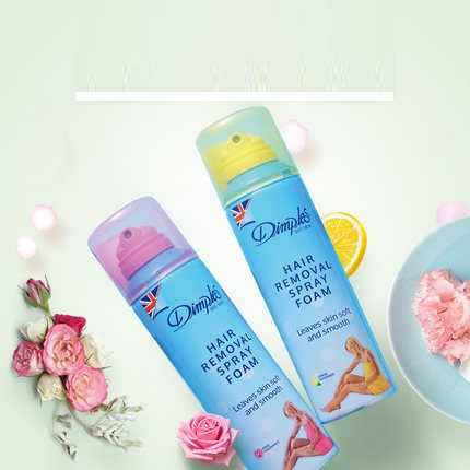 Dimples Hair Remover Spray Foam 200ml Leaves Skin Soft And Smooth