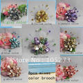 Beautiful!Flower Brooch 8cm Big Round Flower  Fashion Woman's Jewelry Pearl+Shell+Crystal Wholesale New Free Shipping FN2622