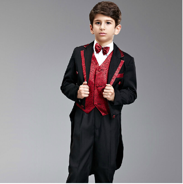 Factory Direct! Black and Red Boy\'s Formal Occasion Children ...