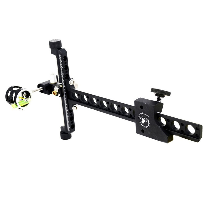 Archery Compound Bow Sight Fine tuning Single Needle With Magnifying Glass Sight