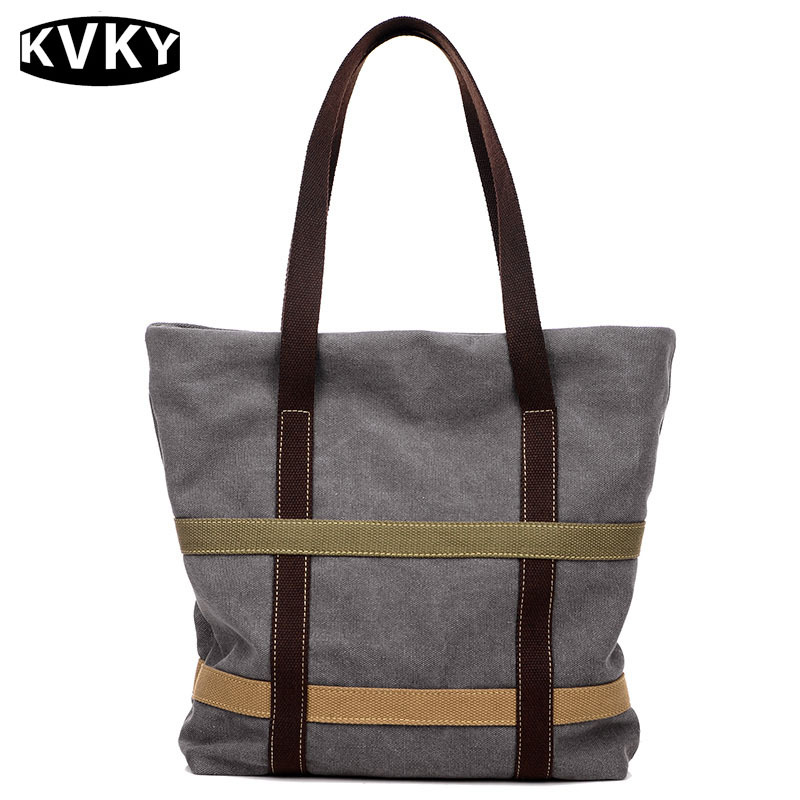KVKY 2017 New Fashion Female Canvas Beach Handbag Bag Casual Tote Women Canvas Handbag Daily Use Single Shoulder Shopping Bags women s casual tote female shopping bag ladies single shoulder handbag simple beach bag sacoche baobao bags for women on sale