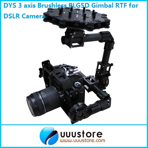 DYS 3 axis Brushless BLG5D Aerial PTZ Gimbal w/3 Motor and Controller RTF for DSLR Camera
