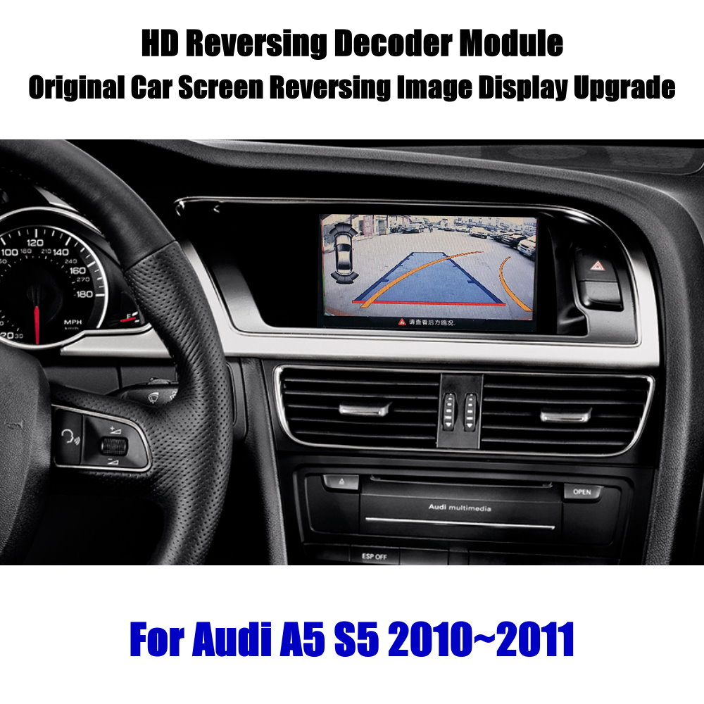 Liandlee For Audi A5 S5 2010 2011 HD Decoder Box Player Rear Reverse Parking Camera Image