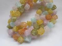 8 12mm Rainbow Quartz Amethyst Quartz Box Cubic Pink Royal blue Golden Yellow Rock Crystal Jewelry Loose Beads full strand 16
