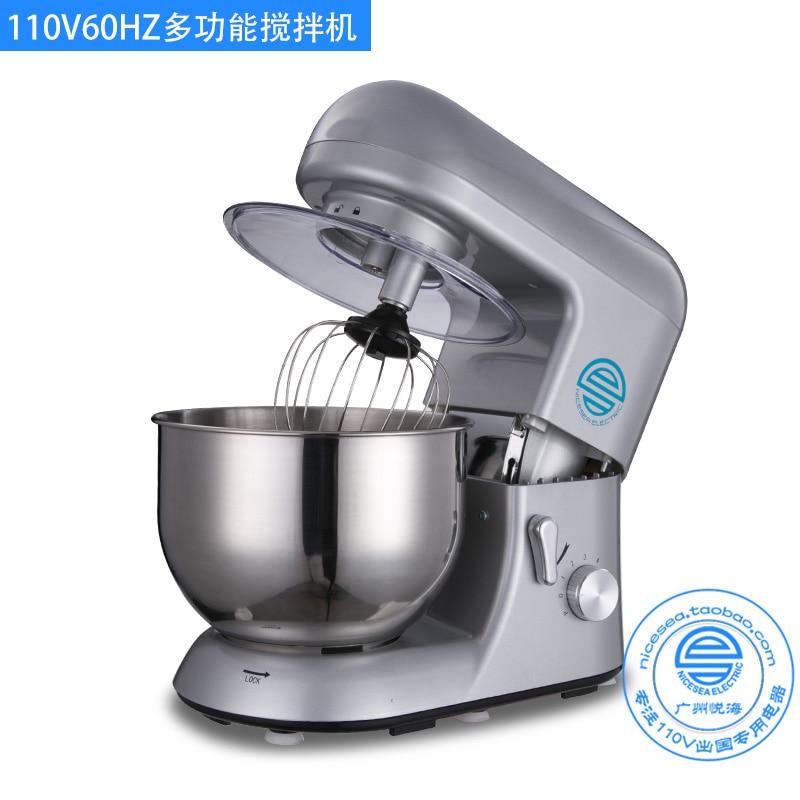 Machine électrique de mélangeur de pâte de 110 V 5.5L multifonctionnel 6 mélangeur de support de nourriture de vitesse Machine de batteur de Milkshake de lait d'oeuf