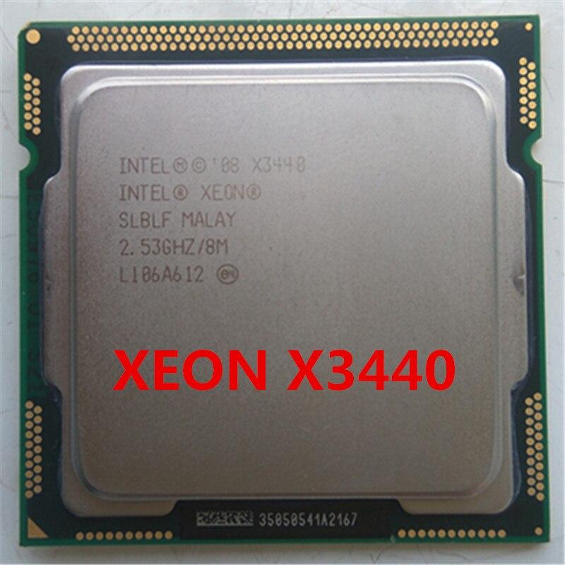 INTEL Xeon X3440 CPU LGA1156 socket/2.53 GHz/L3 8 MB/Quad-Core processeur x3440 Serveur CPU