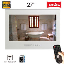 "Souria 27"" inch Full HD1080 Vanishing Magic Mirror LED Bathroom Hotel Luxury TV Wall Mounted Shower Box Water Resistant(China)"